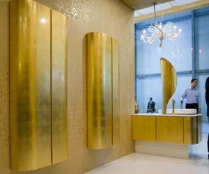 Blad goud aanbrengen op interieur