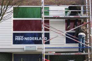 Opplakken Hogeschool HBO nederland