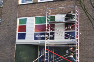 Plakken Hogeschool HBO nederland ramen
