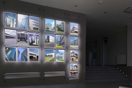 verlichte raam displays