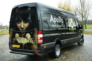 Full color bus reclame