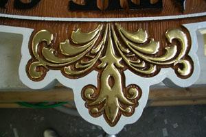 Ornamenten verguld