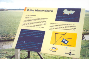 Reclamebord provincie noord holland nh