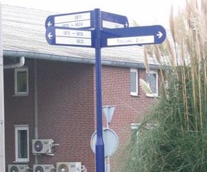 Vlagpalen infopalen routepalen route palen winkler ferry