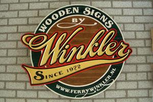 3d relief driemensionaal reclame bord met bladgoud