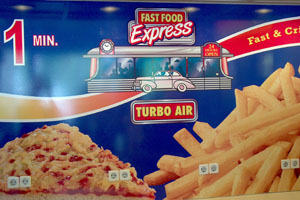 Reclamebord fastfood