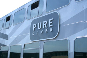 Reclamebord pure liner 1