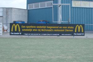 Sportpark reclamebord