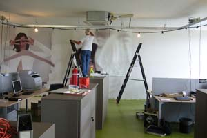 Behangen van full color behang