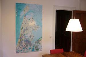 Landkaart provincie noord holland nederland amsterdam magnetisch white board laminaat