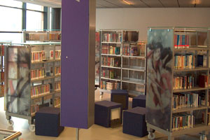 Bibliotheek full color op glasa