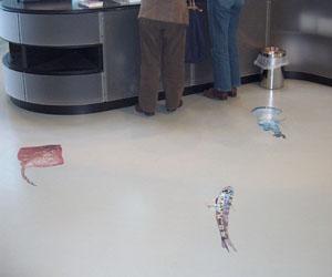 Bibliotheek vloer stickers