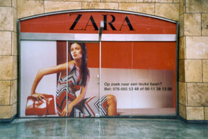 Full color sticker zara