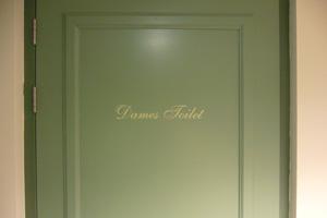 Tekst dames toilet