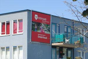 Textiel spandoek amsterdam