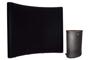 Ideal pop up beursstand met fabric panelen