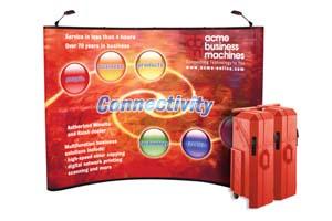 Instand neptune pop up beursstand met graphic panelen en zwee halogeenlampen