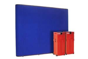 Instand gateway pop up beursstand met fabric panelen
