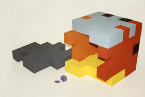 3d uitvergroot kubus