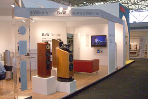Stand b&w boxen on display