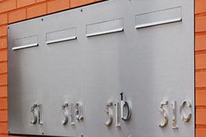 Metalen chromen chroom doosletters