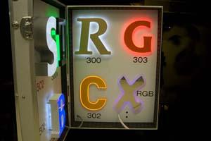 Verlicht acrylaat doosletters 300 serie
