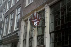 Lichtreclame restaurant vijf te amsterdam