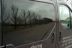 Raamblindering zijraam bus