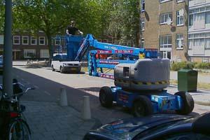 Montage kraan hijskraan hoogwerker amsterdam