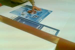 Foto op plakken